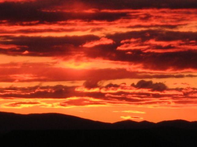 Fiery Sky, Helena, Montana